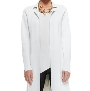 Eileen Fisher Silk-cotton Long Drama Jacket